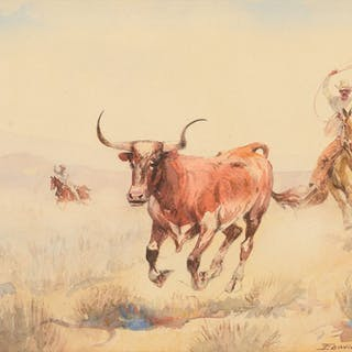 Edward Borein (1872–1945): Rounding Up a Stray