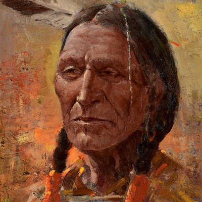 Olaf Wieghorst (1899–1988): Blackfoot Indian | Barnebys