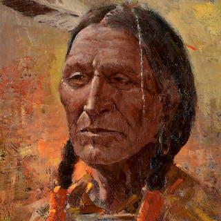 Olaf Wieghorst (1899–1988): Blackfoot Indian