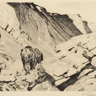 Carl Rungius (1869–1959): Old Baldface; Cliff Dwellers; Challenged