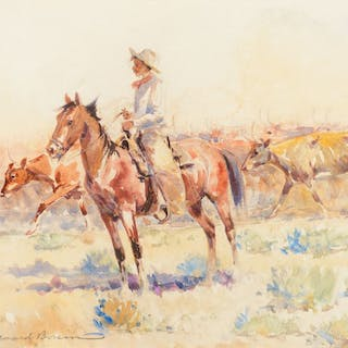 Edward Borein (1872–1945): Herding Cattle