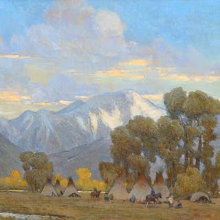 W. Steve Seltzer (b. 1955): Mission Mountain Camp (2012)