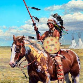 Bob Coronato (b. 1970): Granddad's Captured Crow Medicine Shield (2009)