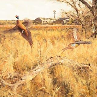 Eldridge Hardie (b. 1940): Double Flush – Pheasants