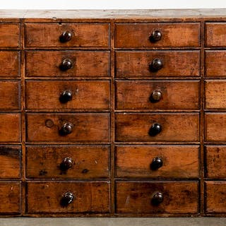 Pine apothecary cupboard