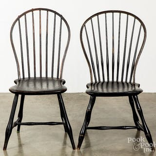 Two bowback Windsor chairs
