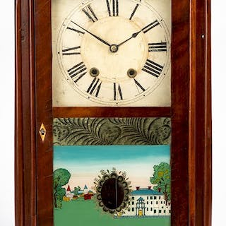 Seth Thomas mahogany pillar and scroll clock