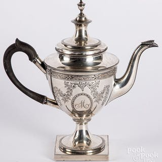 Baltimore sterling silver teapot by Kirk