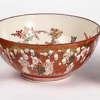 Japanese porcelain bowl, teapot and sugar