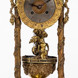 Bronze mantel clock