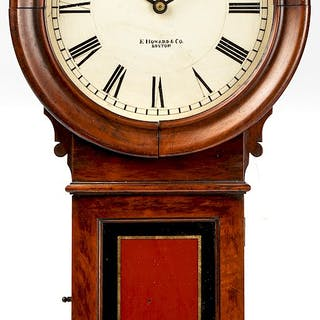 E. Howard model 70 mahogany wall clock