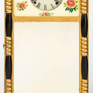 Sheraton style mirrored wall clock