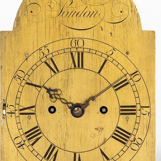 Georgian brass bracket clock works