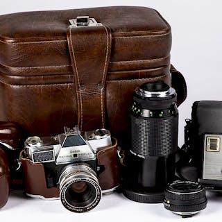 Kodak Retina Reflex IV camera, etc.