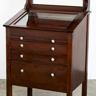 Mahogany dental cabinet
