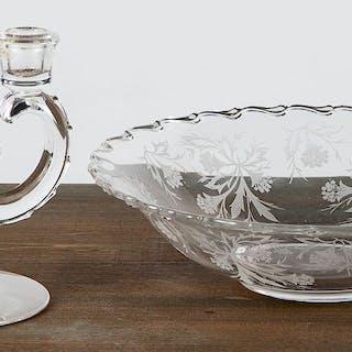 Murano glass bowl, etc.