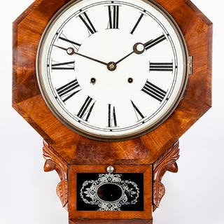 Waterbury mahogany wall clock
