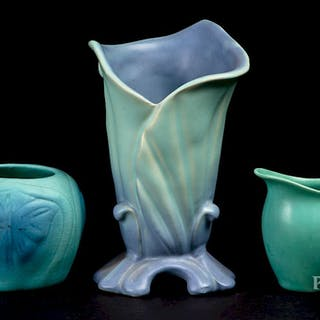 Rookwood pottery creamer, etc.