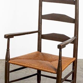 Painted ladderback armchair