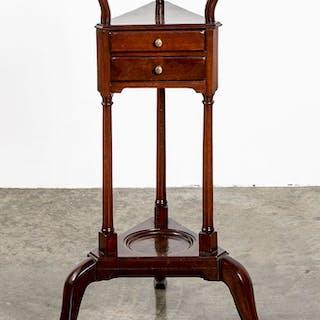 George III mahogany basin stand