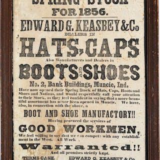 Edward G. Keasbey & Co dry goods broadside