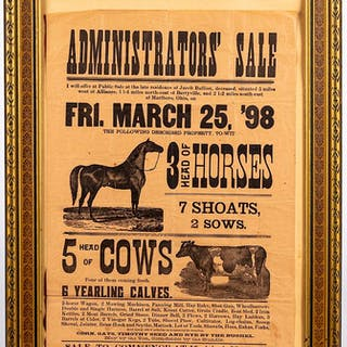 Ohio auction broadside