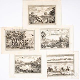 Five Bellin 1746 prints