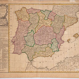 Delamarche 1780 hand colored map