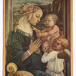 After Filippo Lippi, Madonna lithograph