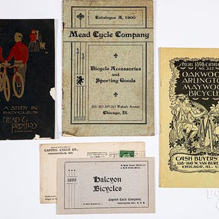 Four early bicycle catalogs