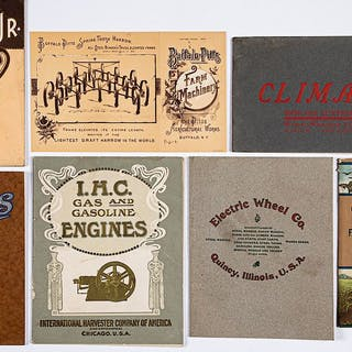 Group of farm machinery catalogs