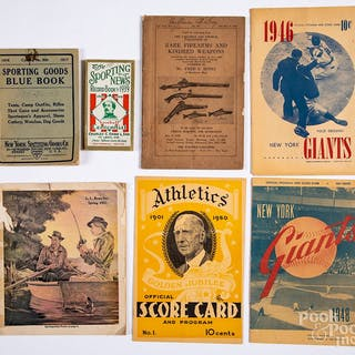 Group of baseball ephemera