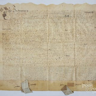 English servitude trade indenture document
