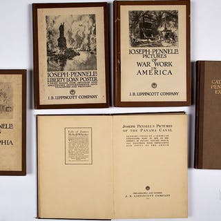 Five books of Joseph Pennell etchings