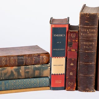 Group of non-fiction history books, etc.