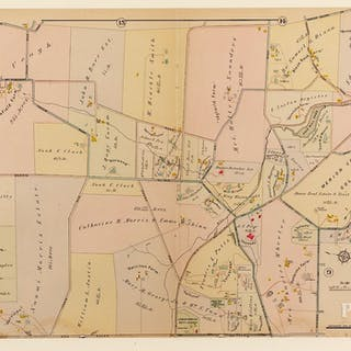 Four Atlas Main Line Pennsylvania Rail Road Maps