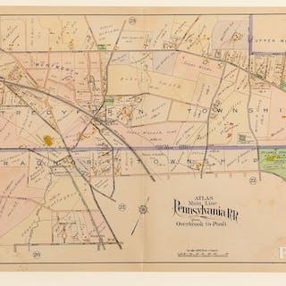 Five Atlas Main Line Pennsylvania Rail Road Maps