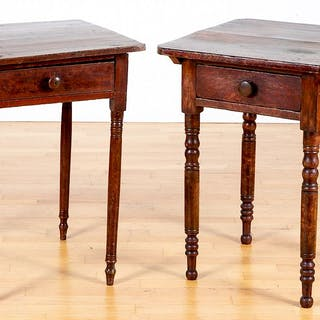Two Pennsylvania painted one-drawer stands