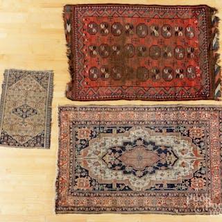 Three oriental carpets