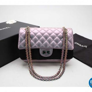 cf253238a09a Chanel bag Medium 2.55 Reissue Double Flap Bag - Lilac Iridescent Mermaid.  – Current sales – Barnebys.com