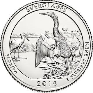 2014-P 25c Everglades NP 100 Coin Bag in Mint Box ($25 Bag)