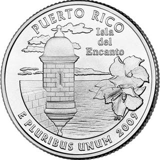 2009-P 25C Puerto Rico 100 Coins in Sealed Mint Bag ($25 Bag)