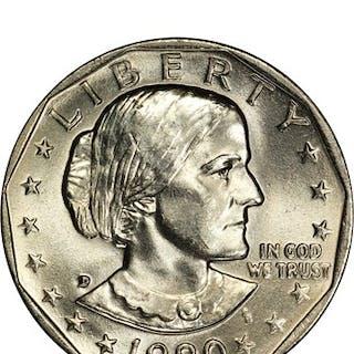 1980-D $1 SBA 100 Coins in Sealed Mint Bag ($100 Bag)