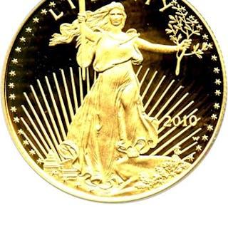2010-W Gold Eagle $25 PCGS Proof 70 DCAM
