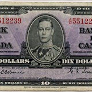 Canada: $10 PMG 25 (BC-24a) [5512239]