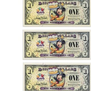 Lot of Disney Dollars: 2009 D $1 Birthday Party (Castle in the Clouds)