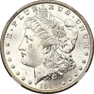 1884-O $1 NGC MS63
