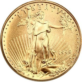 1999-W Gold Eagle $5 PCGS MS69 (Unfinished Proof Dies)