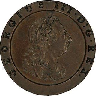 Great Britian: 1797 1D PCGS AU53 (S-3777, 10 Leaves)