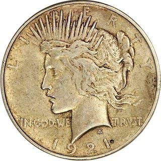1921 Peace $1 PCGS/CAC AU55
